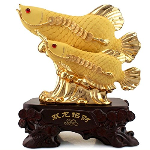 GL&G Lucky fish large Decorations marry gift Creative European Home living room Tabletop Scenes Ornaments Collectible High-end Business gift,B,401642cm by GAOLIGUO