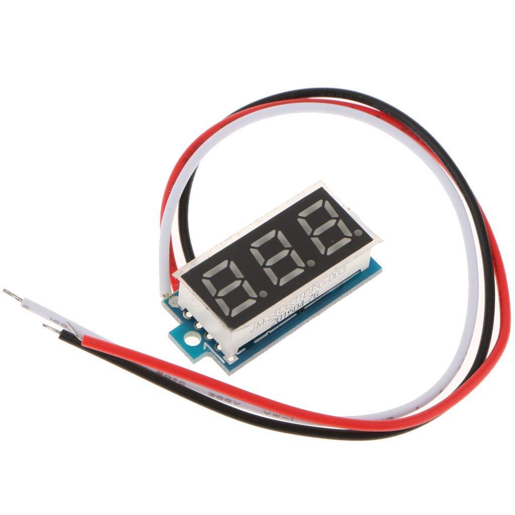 nouler Juler 12V Three-Wire Digital Voltmeter Voltage Tester with 0.28 inch Led Display Dc0-100V - Green by nouler