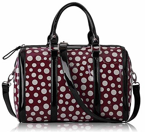 Ladies Women's Cute Fashion Dot Bags Handbags Designer Chic Quality Bag LS0069 Purple Dot