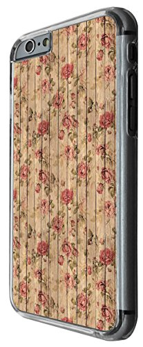 1178 - Floral Shabby Chic Roses Fleurs Wooden Look Design For iphone 6 Plus / iphone 6 Plus S 5.5'' Fashion Trend CASE Back COVER Plastic&Thin Metal -Clear