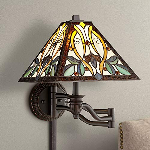 Louis Tiffany Swing Victorian Art Arm Wall Lamp Robert Glass rdhtosQCxB