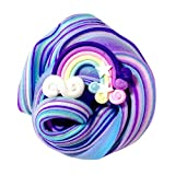 Yliquor Beautiful Color Butter Slime Rainbow Birthday Cake Slime Kids Relief Stress Fun Toys Perfect for Both Boys Girls (B)