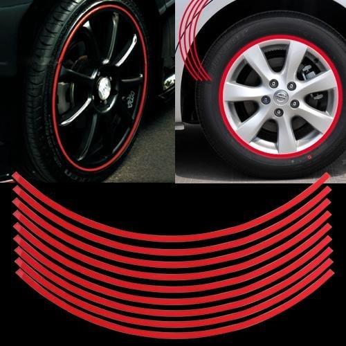 6/mm Sunluxy Mall Lot de 18 autocollants pour roue de voiture /Rouge