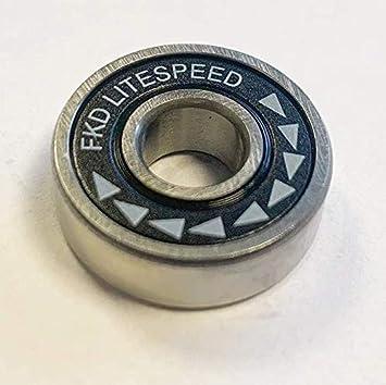 FKD Bearings Litespeed Black//Silver Skateboard Bearings