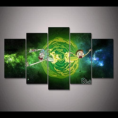 Trabajo Moderno Arte de la Pared Cartel Decoración para el hogar 5 Paneles Sala de Estar Lienzo HD Fotos modulares: Amazon.es: Hogar