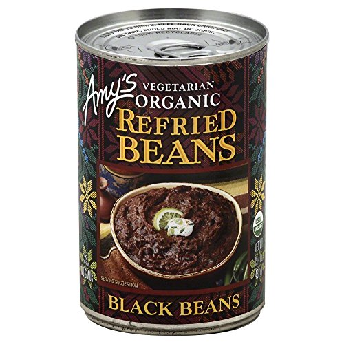 Amy's Refried Beans Black Beans 15.4 OZ(Pack of 6)