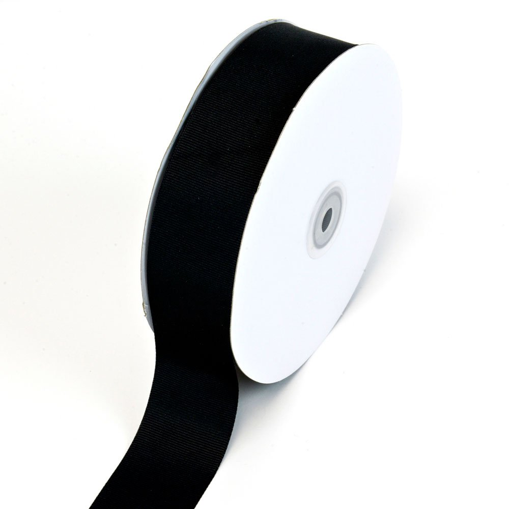 Creative Ideas Solid Grosgrain Ribbon, 1-1/2-Inch by 50-Yard, Black GRO1102-030