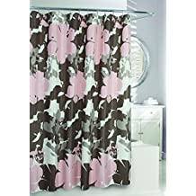Moda at Home 204358 Painted Botanical Shower Curtain, Rose
