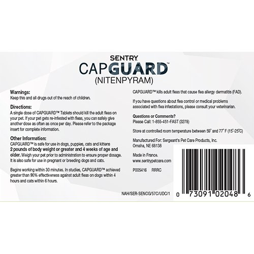 SENTRY-Capguard-nitenpyram-Oral-Flea-Treatment-Medication-25-lbs-and-Over-6-count