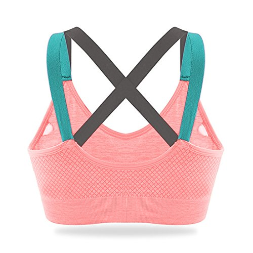 618f3c3e7a HeartFor Racerback Sports Bras for Women - Padded High Impact Workout