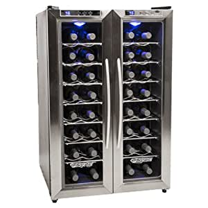 Edgestar 32 Bottle Dual Zone Wine Cooler With