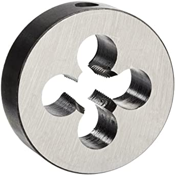 """Union Butterfield 2010(NPT) Carbon Steel Round Threading Die, Uncoated (Bright) Finish, 1/4""""-18 Thread Size"""