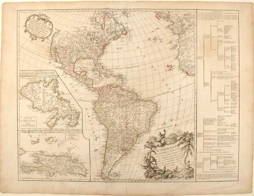 Amazon.com: Map of North and South America: Didier Robert de ...