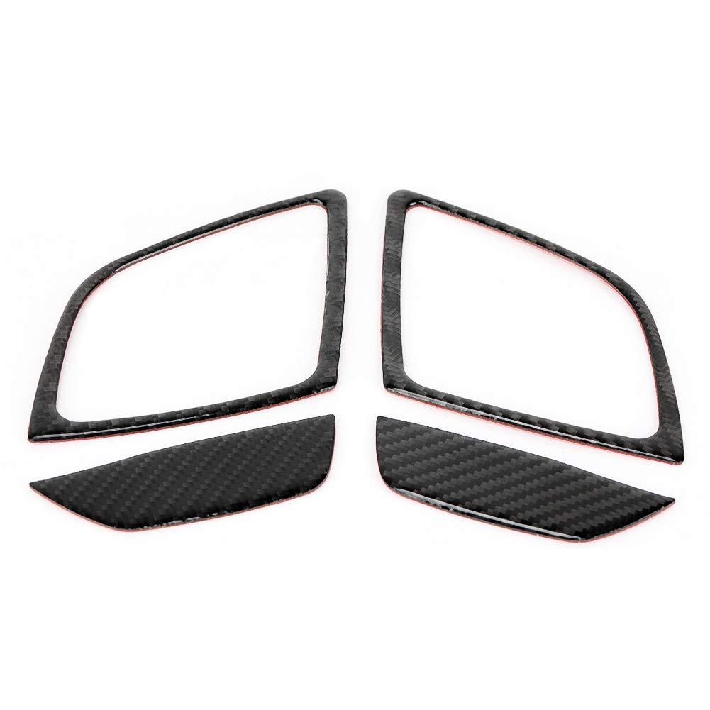 Suuonee Car Vent Panel Trim, 4Pcs Carbon Fiber Left/right Venting Panel Exhaust Panel Trim Cover Sticker for Mazda3 Axela 2014 2017 2018