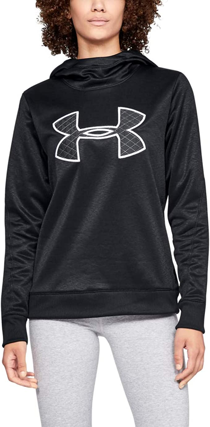 Under Armour Women's Synthetic Fleece Pullover, Black (001)/Black, X-Small