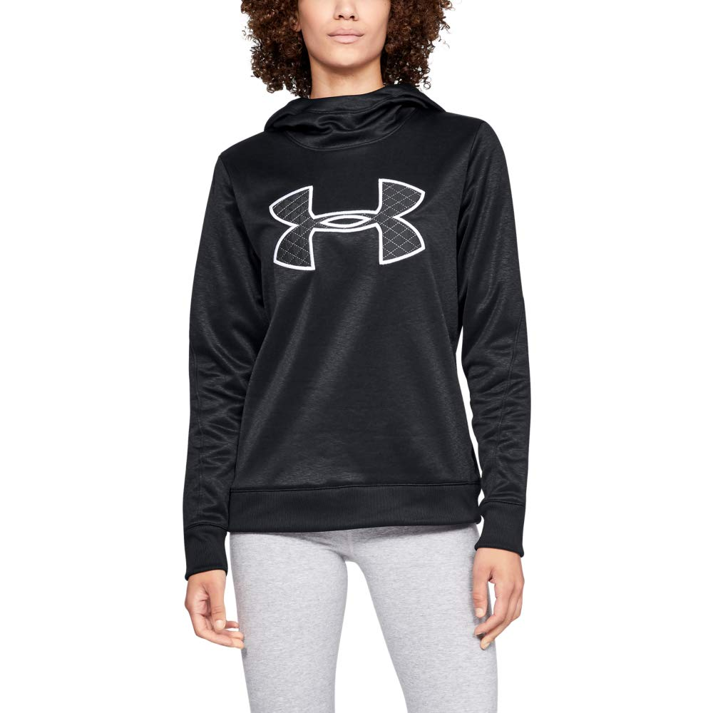 Under Armour Women's Synthetic Fleece Pullover, Black (001)/Black, Small by Under Armour