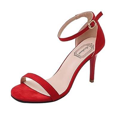Damen Sommer Pumps Sandalen mit Absatz MIT RIEMCHEN Gr. 39
