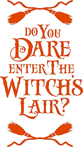 Family Connections Dare Enter The Witches LAIR ~ Orange ~ Outdoor Halloween/Window / Wall/Craft Decal with Alcohol PAD~ Size 10.20
