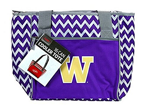 NCAA Officially Licensed Washington Huskies Chevron 16 Can Tote Bag Cooler