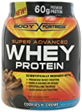 Body Fortress Super Advanced Whey Protein, Cookies'N Cream, 1.95 Pounds