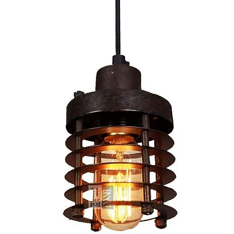 Jaula de Metal óxido lámpara de techo circular para ...