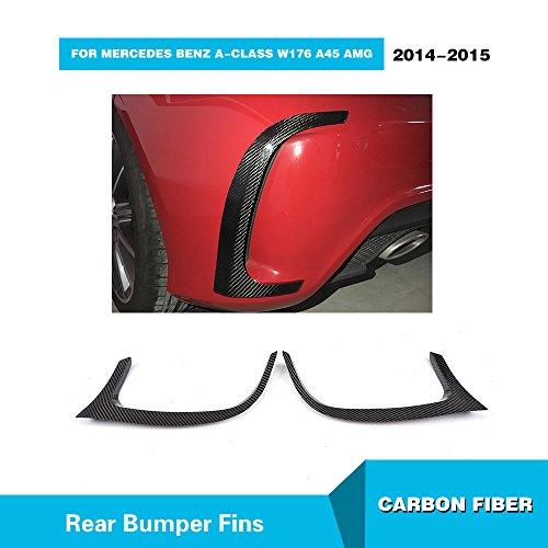 For Mercedes Benz A-Class W176 A45 AMG 2014 2015 MCARCAR KIT Rear Bumper Vents Real Carbon Fiber Exterior Fins Amg Body Kits