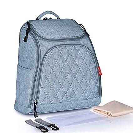 Mochila con bolsa de pañales para bebés Organizador inteligente para mamá y papá - Bolsa impermeable