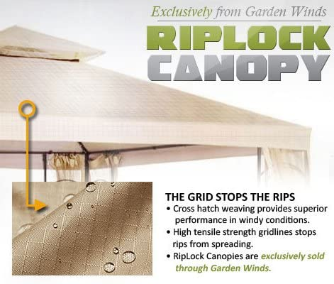 Garden Winds LCM490S-RS Universal Pergola RipLock 350 Replacement Canopy, Sage
