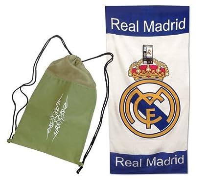 Toalla del REAL MADRID de 76x152cm , 100% algodón. Producto Oficial del Real Madrid