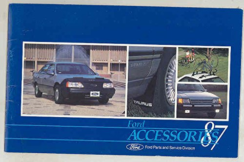 1987 Ford Accessories Brochure Mustang Thunderbird Taurus LTD Escort EXP (Thunderbird Brochure)