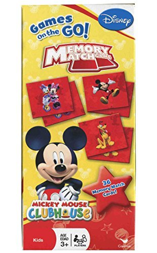 Disney Mickey Mouse Clubhouse Memory Match Game, Red, Yellow -