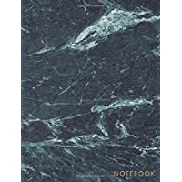 Notebook: Classic Black Dark Marble Notebook with Gold Lettering - Marble & Gold Journal | 150 College-ruled Pages | 8.5 x 11 - A4 Size (Marble and ... - Journal, Notebook, Diary, Composition Book)