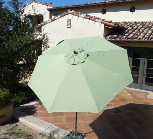 Formosa Covers 9ft Aluminum Market Umbrella with Crank Tilt – Sage Green
