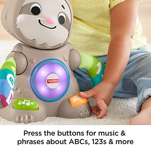 51b8TuGQG9L - Fisher-Price Linkimals Smooth Moves Sloth - Interactive Educational Toy with Music, Lights, and Motion for Baby Ages 9 Months & Up