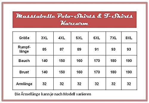 4688 Red Herren Poloshirt in Übergröße Lavecchia Gr. 3-8 XL (7XL)
