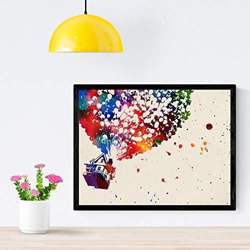 Lamina para enmarcar UP estilo acuarela Posters decorativos para pared Laminas para decorar tu hogar Papel 250 gramos alta calidad