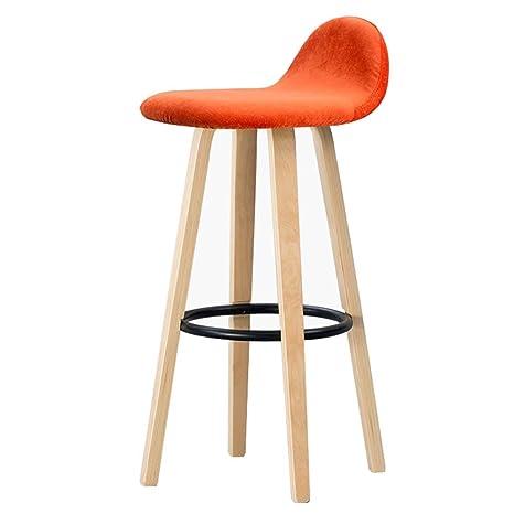 Admirable Ljfyxz Bar Stool Backrest Iron Bar Chair Flannel Cloth Beatyapartments Chair Design Images Beatyapartmentscom