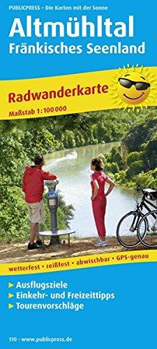 Altmühltal - Fränkisches Seenland: Radwanderkarte mit Ausflugszielen, Einkehr- & Freizeittipps, wetterfest, reissfest, abwischbar, GPS-genau. 1:100000 (Radkarte / RK)