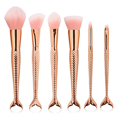 6pcs Pro Cosmetic Brushes Sets(Gold) - 6