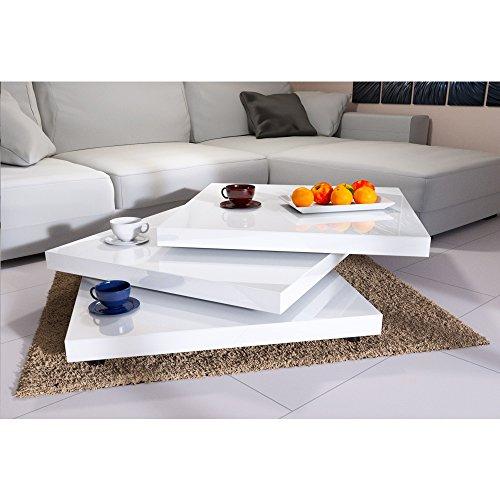 Tavolino Da Salotto Laccato Bianco.Tavolino Basso Da Salotto Moderno Bianco Laccato Lucido