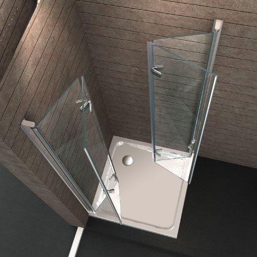 Duschkabine falttür eckeinstieg