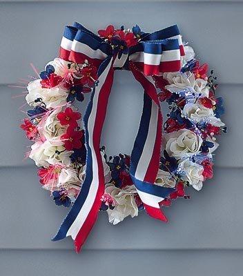 Fiber Optic Patriotic Americana Wreath