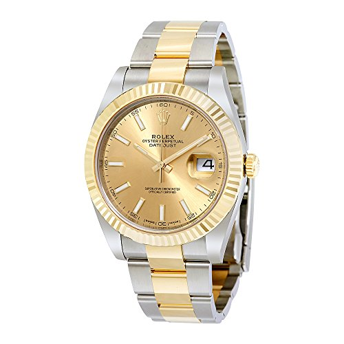 Rolex Datejust 41 Champagne Dial Steel and 18K Yellow Gold Oyster Mens Watch 126333CSO