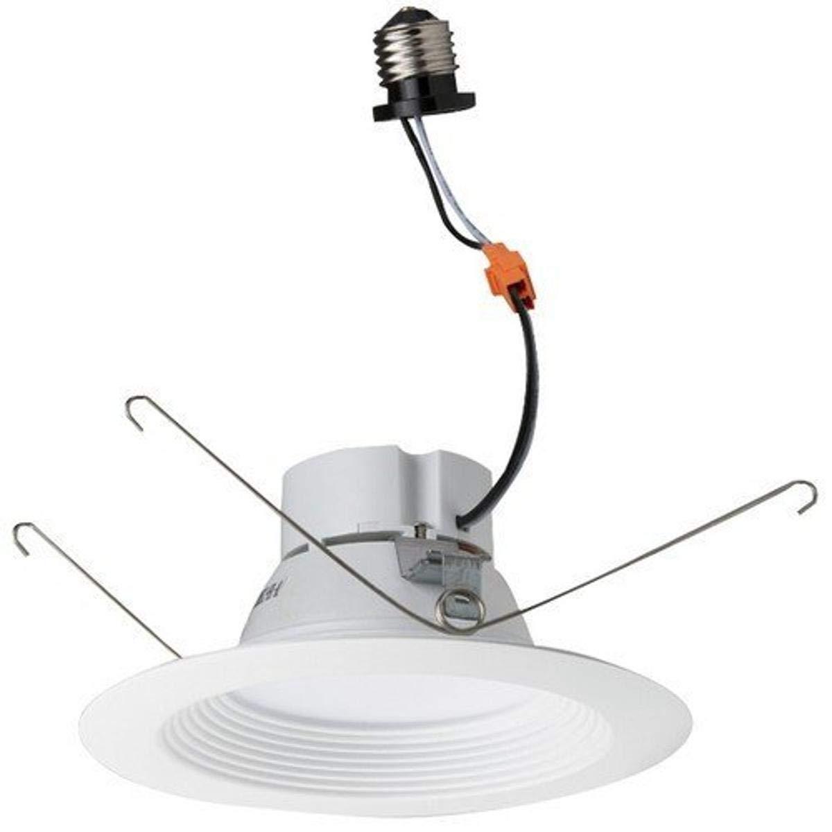 """Morris 72611 14.5W 5000K LED Recessed Lighting Retrofit Kit, Baffled Bezel, 1200 lm, 120V, 5""""- 6"""", White"""