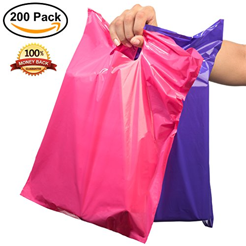 """200 Premium 12""""X15"""" Large Merchandise Bags (Extra Thick) with Handles 