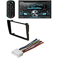 HONDA 2001 - 2005 Civic Non SI Models Car Radio Stereo CD Player Dash Install Kit With Kenwood Double Din Bluetooth CD Player USB/AUX Car Radio Receiver DPX502BT