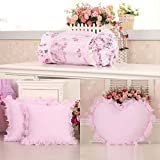 TIANTA-Cushion European personalized creative lace pillow love candy pillow / backrest waist pillow suit with core ( Color : D )