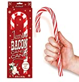 Jumbo Bacon Flavored Candy Cane Novelty Stocking Stuffer, 3.1 oz by Accoutrements