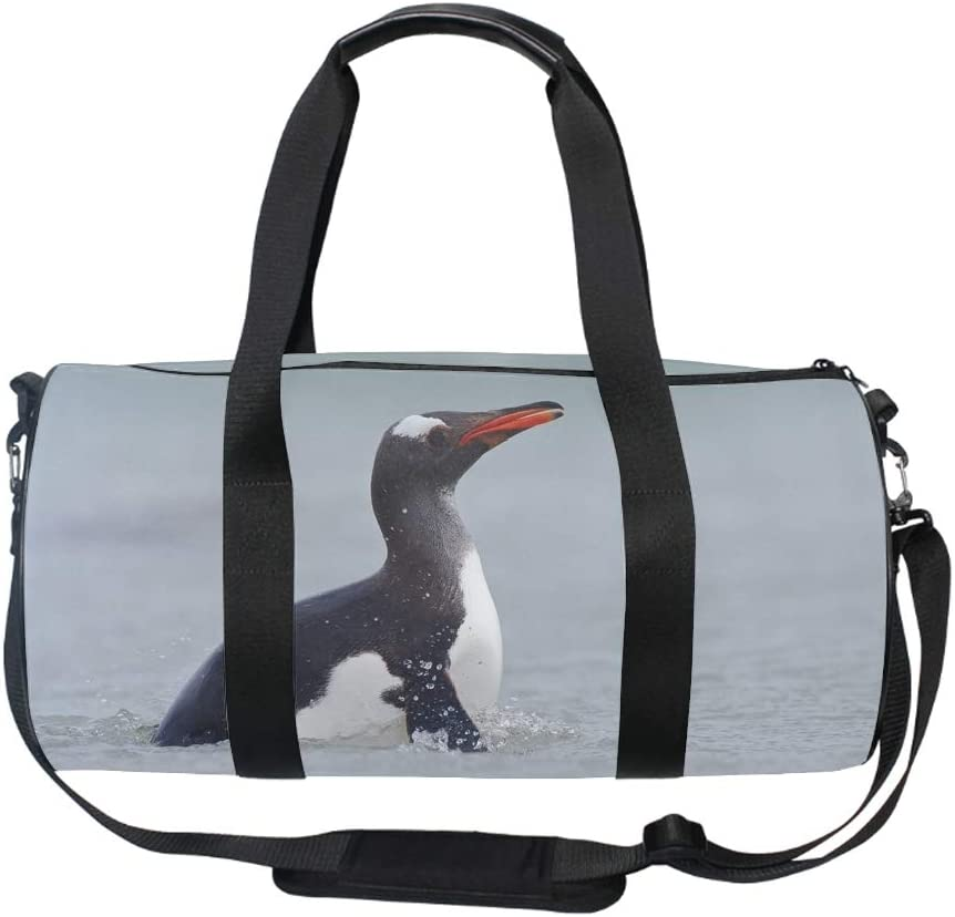 Zippered Compartments Windmill Field Duffel Style Carry On Sports Travel Bag with Shoulder Strap