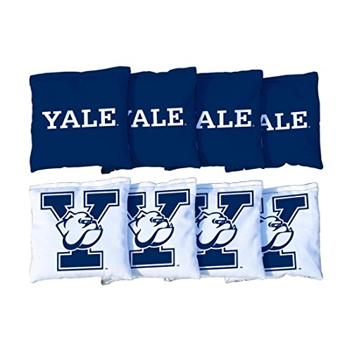 Victory Tailgate NCAA Yale Bulldogs Unisex 54750Cornhole Bag Set (Corn Filled), Multicolor, One Size by Victory Tailgate